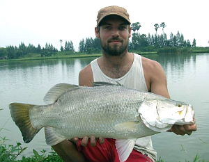 Barramundi guided fishing in Thailand