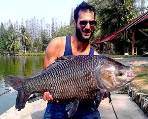 Carp fishing at Cha Am fishing resort