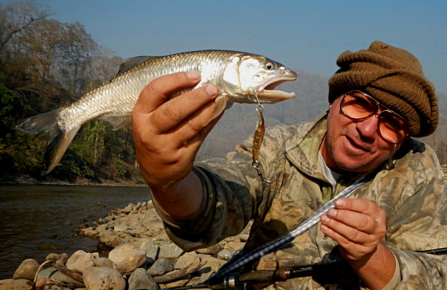 Burmese trout fishing in Thailand
