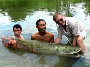 Photo of Arapaima caught fishing in Thailand in Hua hin